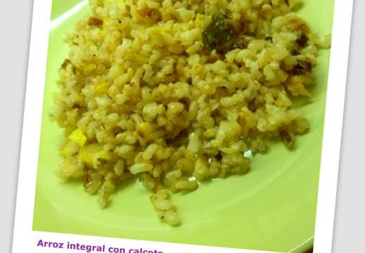 Receta de arroz integral con puerros - Emoalimentación